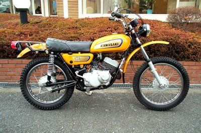 1972 Kawasaki 175 Dirt Bike I Had A Blast On This Bike Kawasaki Motorcycles Kawasaki Bikes Kawasaki Dirt Bikes