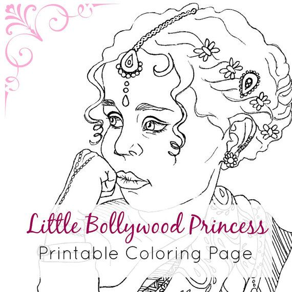 Indian Girl Coloring Page | Adult Coloring Book Page Printable ...