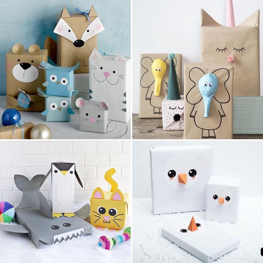 New post on the blog: CUTE KIDS GIFT WRAPPING IDEAS #diy # ...