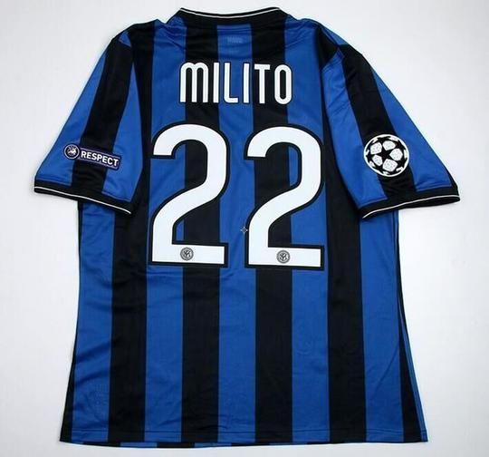 Inter Milan Nike Home 2010 Final UCL  Diego Milito 22 El Príncipe FÚTBOL  SOCCER KIT CALCIO SHIRT JERSEY FUSSBALL CAMISA TRIKOT MAILLOT MAGLIA BNWT 5cc6a9b56