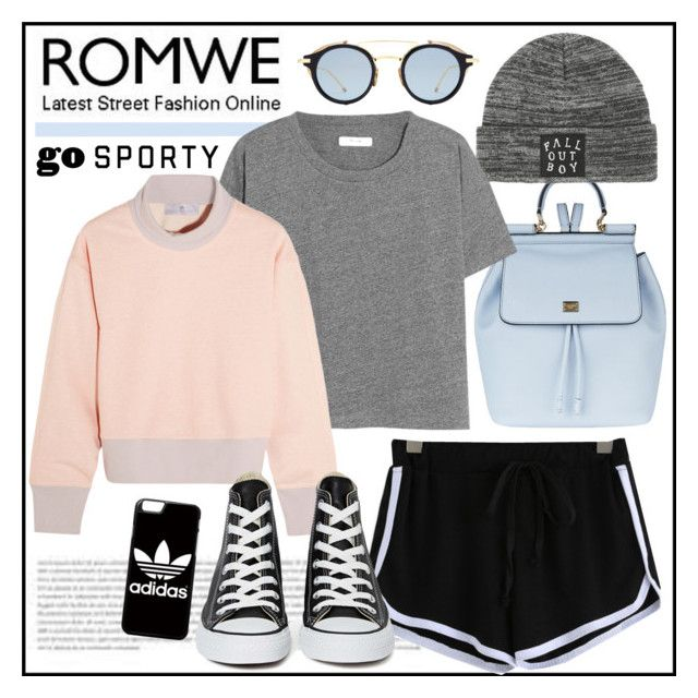 """""""Romwe contest"""" by emilymiller ❤ liked on Polyvore featuring Dolce&Gabbana, adidas, Madewell, Converse, contest and romwe"""