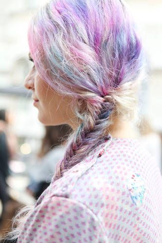 Pastels in the hair !