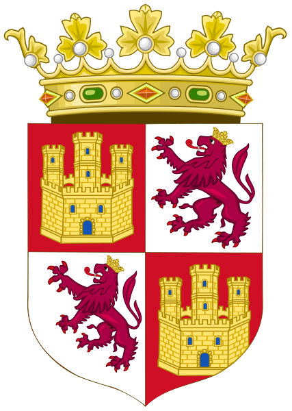 Royal Coat of Arms of the Crown of Castile c 15th. The line of Trastámaran royalty in Castile ruled throughout a time period of military struggle with Aragon. Their family was sustained with large amounts of inbreeding, which led to a series of disputed struggles over rightful claims to the Castilian throne. This lineage ultimately ruled in Castile from the rise to power of Henry II in 1369 through the unification of the crowns under Ferdinand and Isabella