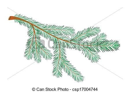 Eps Vector Of Christmas Tree Branch Csp17004744 Search Clip Art Christmas Tree Branches Branch Drawing Christmas Branches