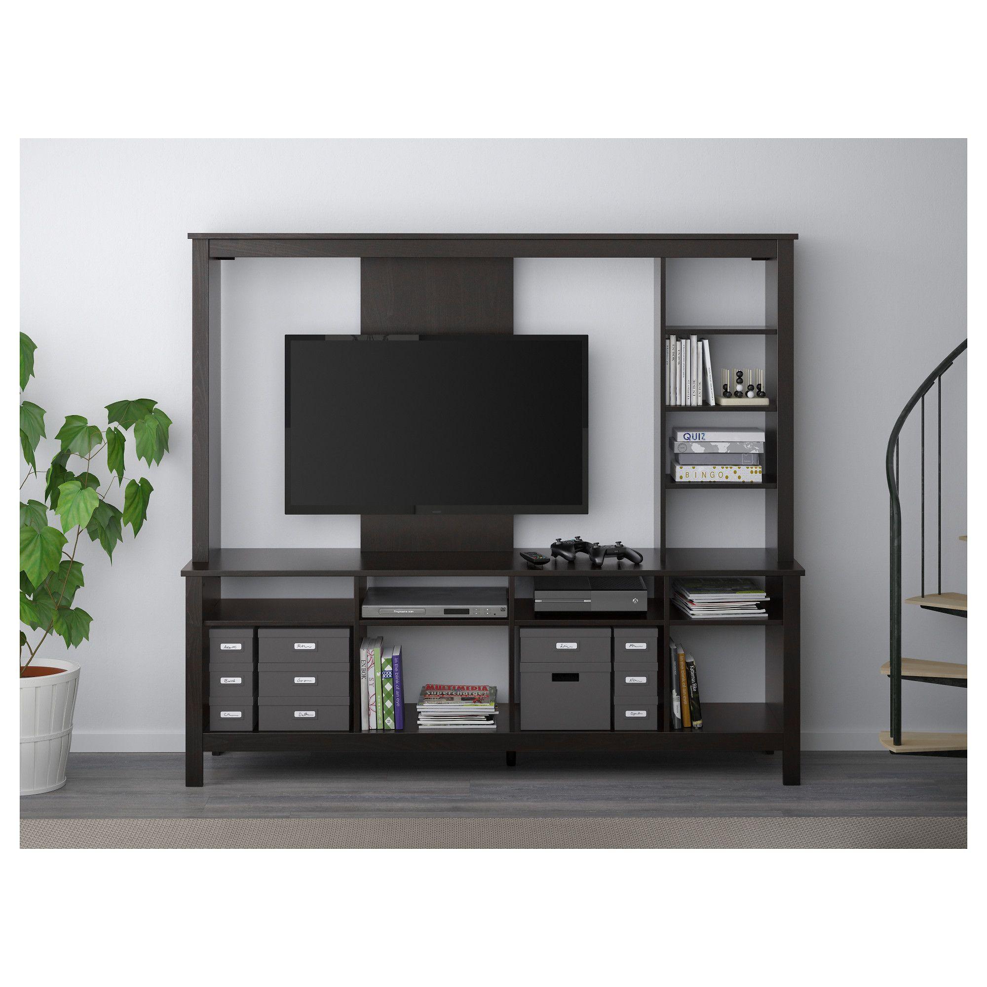 ikea - tomnÄs tv storage unit black-brown | nook and cranny | tv