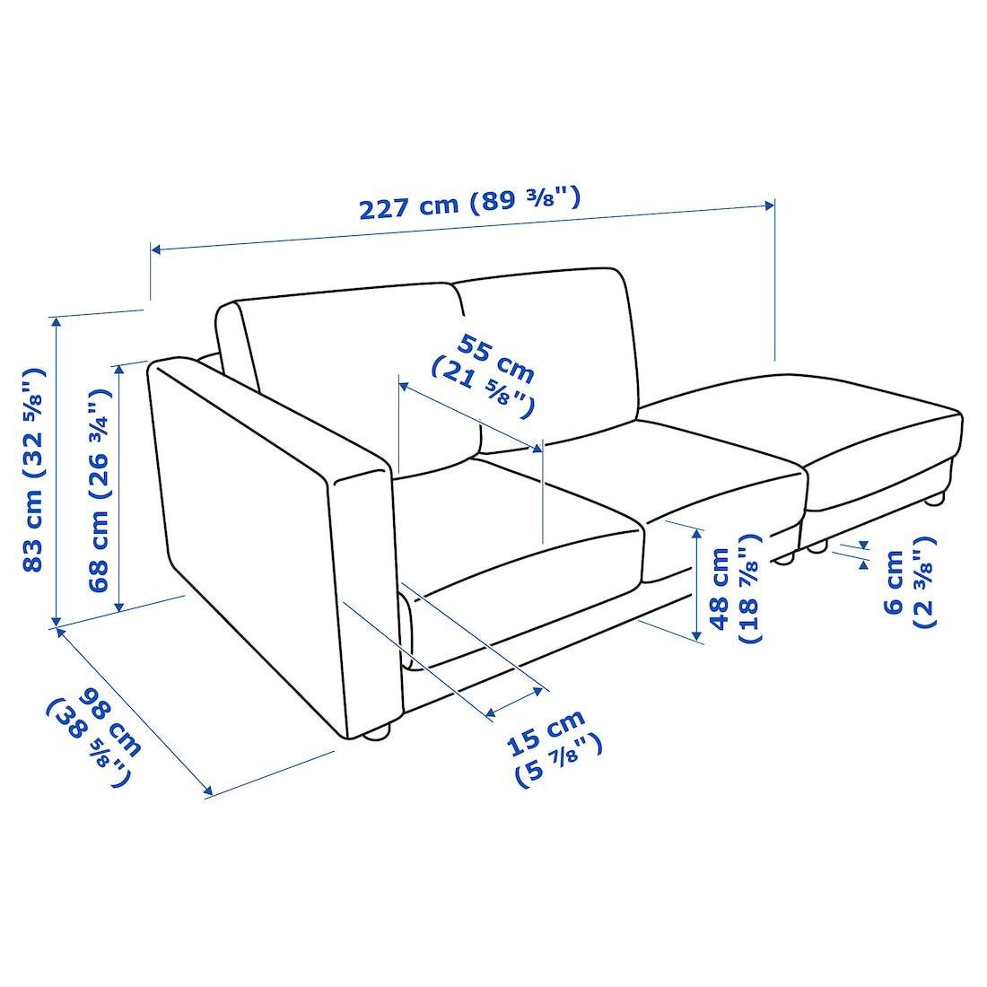 Vimle Sectional 3 Seat Corner With Open End Gunnared Beige Ikea Ikea Vimle Sofa Ikea Vimle