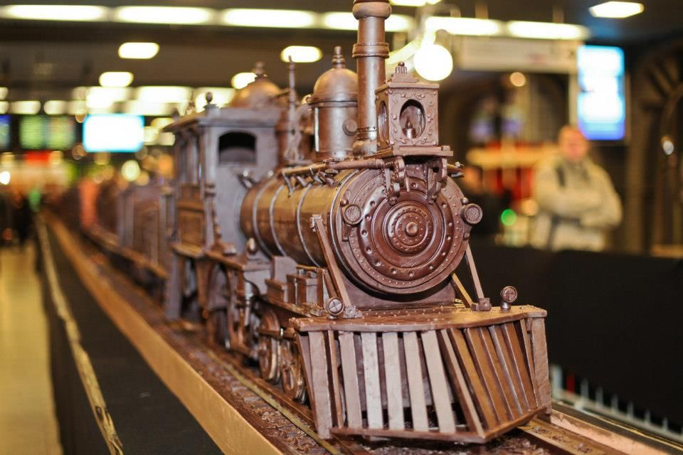 Steampunk Tendencies | Andrew Farrugia - Belcolade Express - World's longest chocolate structure