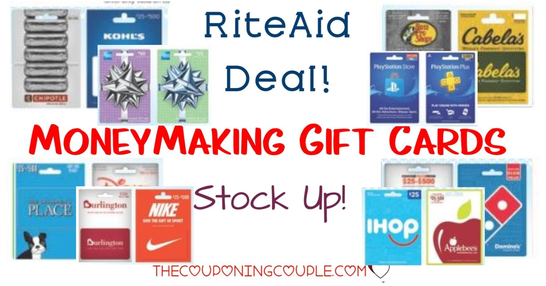 Moneymaking gift cards at rite aid time to stock up
