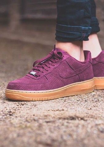 Nike Air Force One | Suede, Purple. Chaussures ...