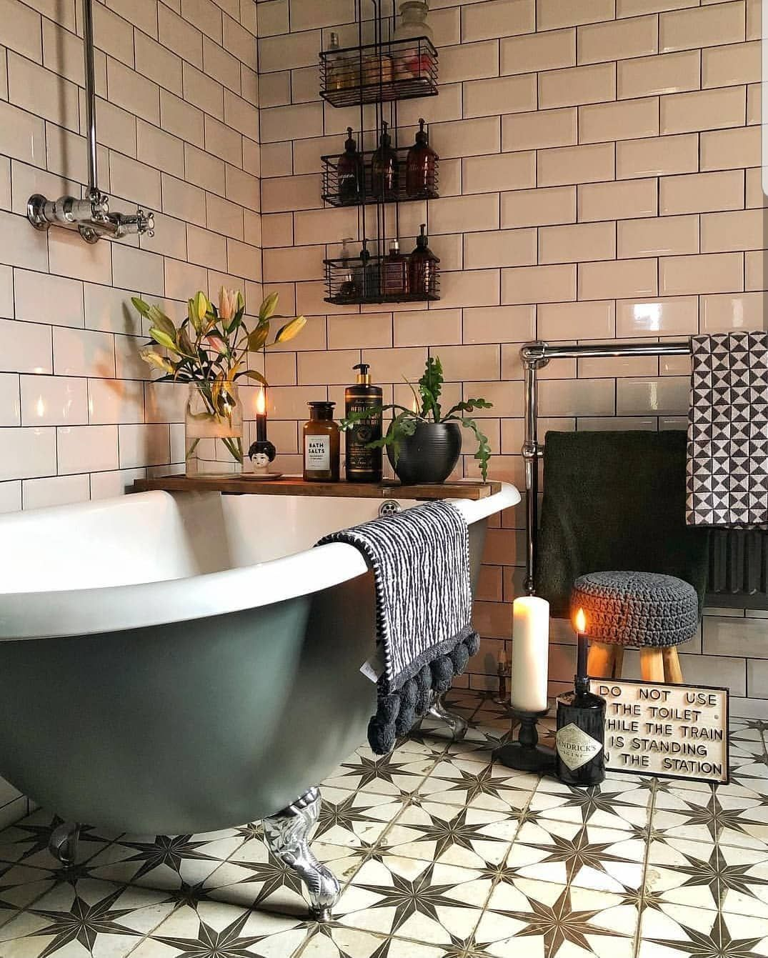 40 Amazing Bohemian Style Bathroom Decor Ideas - HMDCRTN