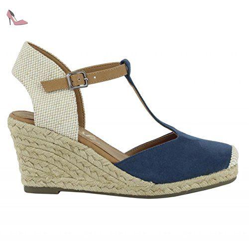 63575, Chaussures Compensées Femme - Beige - Beige, 36 EURefresh