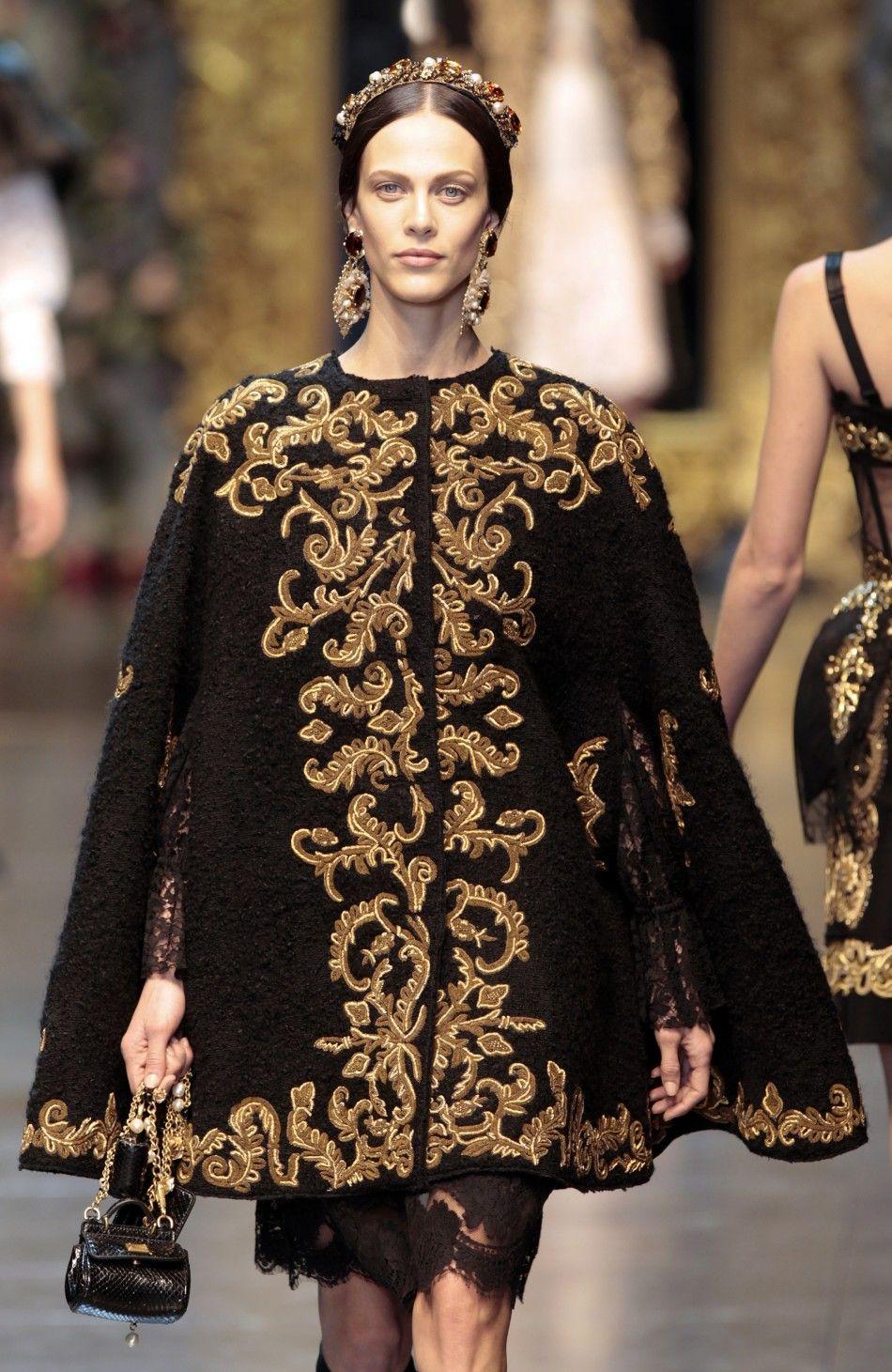 Dolce Gabbana 39 S Baroque Romanticism At 2012 Milan Fashion Week Dolce And Gabbana