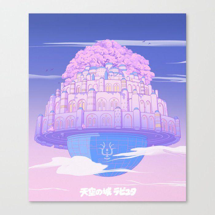 Castle In The Sky Canvas Print by Elora Pautrat - Medium
