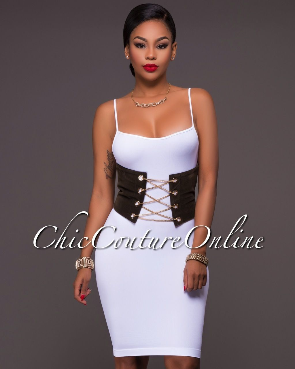 Chic Couture Online - Elektra Olive Green Velvet Gold Accent Corset Belt, $45.00 (http://www.chiccoutureonline.com/elektra-olive-green-velvet-gold-accent-corset-belt/)