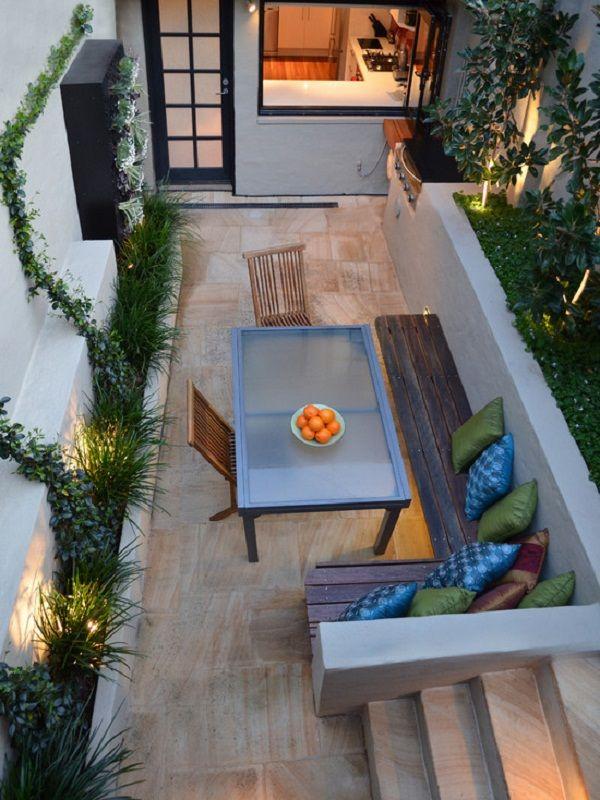 Custom Small L Shaped Outdoor Patio Bench Ideas | Fabulous ... on ideas for rectangular backyards, ideas for small backyards, ideas for large backyards,