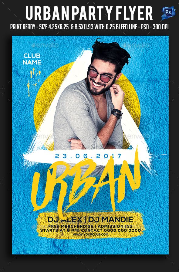 Urban Party Flyer — Photoshop PSD #template #psd • Available here → https://graphicriver.net/item/urban-party-flyer/19738856?ref=pxcr
