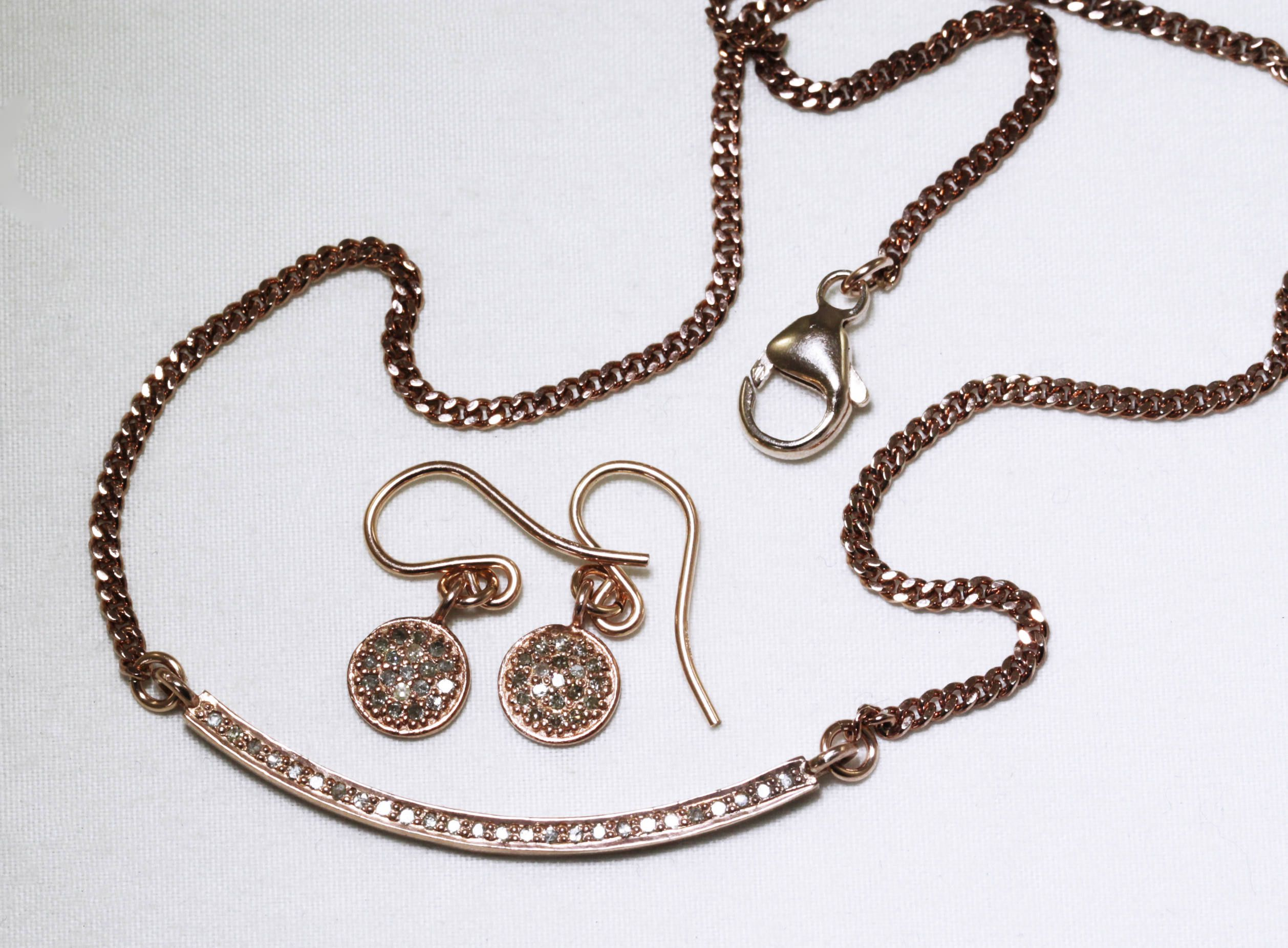 Pav diamond necklace rose gold necklace precious diamond necklace pav diamond necklace rose gold necklace precious diamond necklace real diamond necklace april birthstone necklace pd n 130 rg mozeypictures Gallery
