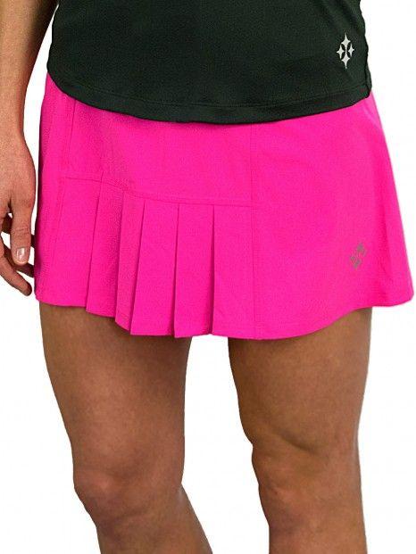 bbb58cdb37 JoFit Ladies & Plus Size Dash Pleated Tennis Skorts - Mojito (Fluorescent  Pink)
