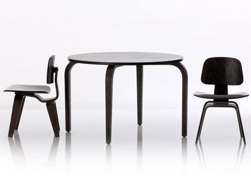 Eames inspired woody table and chair set