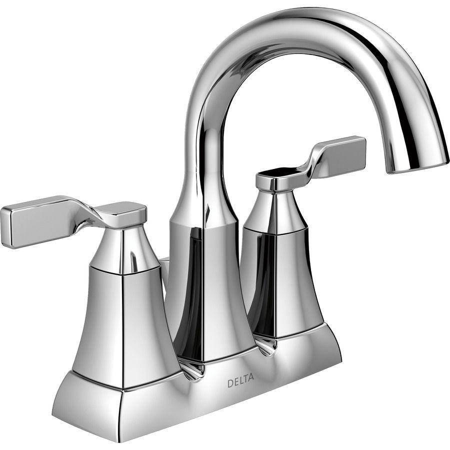 Delta sawyer chrome 2handle 4in centerset bathroom