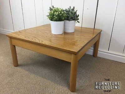Light Wood Ercol Square Coffee Table Side Table Retro Vintage Classy Second Hand Ercol Dining Room Furniture 2018