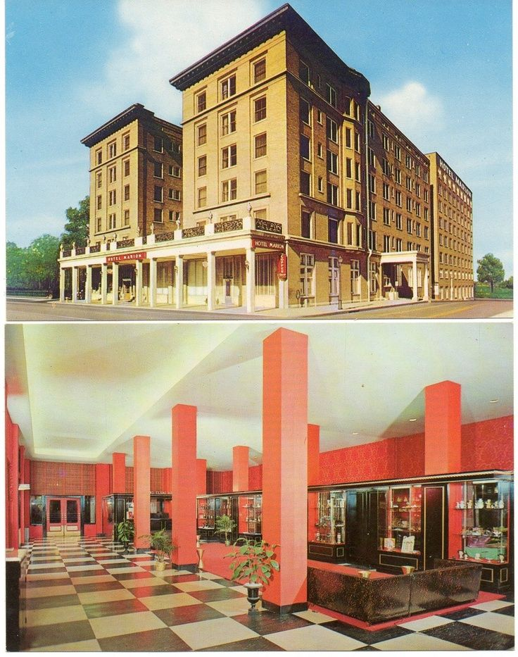 Exterior Interior Of Hotel Marion Little Rock Arkansas Late 50 S