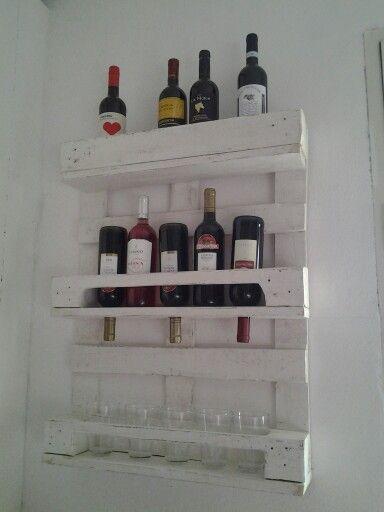 Pallet portabottiglie pallet in 2019 room shelves for Portabottiglie vino fai da te