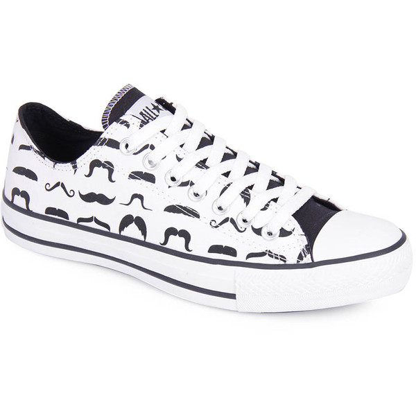 3e18898f34db Tenis Casual Unissex Converse All Star As Print Mustaches Ox Ct3547 Branco