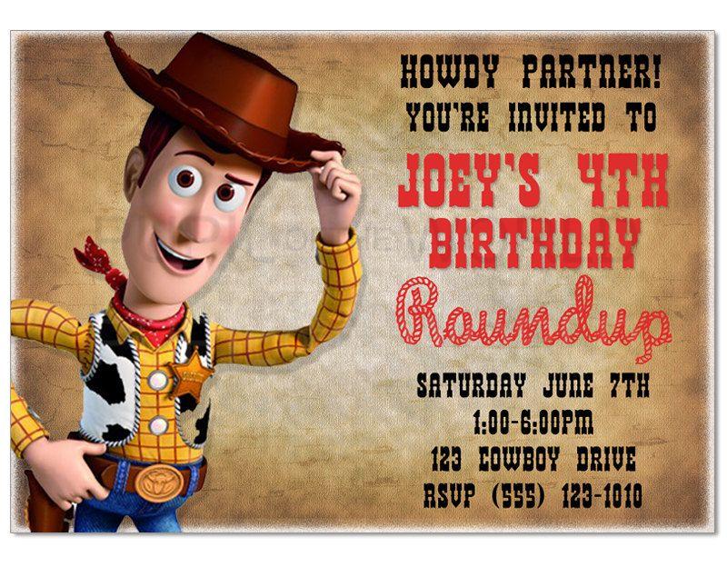 Toy Story Woody Birthday Party Invitation by PupiloftheWorld ...