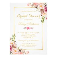 Best selling personalized floral wedding invitations