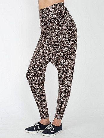 58db8080749c8 Leopard Printed Spandex Jersey Harem Pant | American Apparel | Harem ...