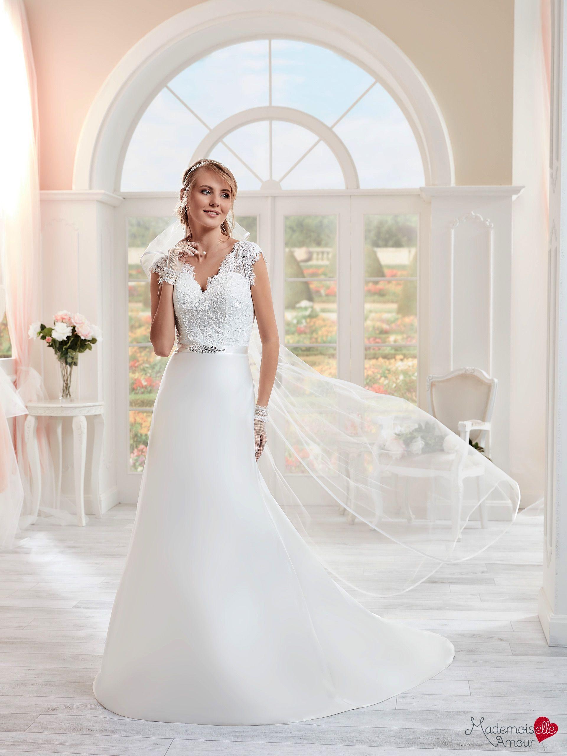 Robe de Mariée Mlle Laora, robe mariage en mousseline, robe de ...
