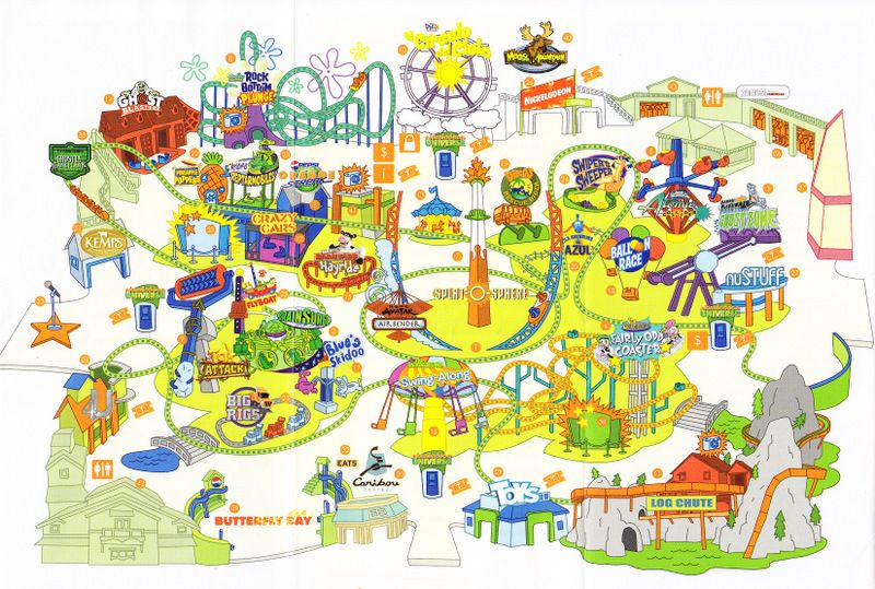 3f389dd83 Nickelodeon Universe - 2010 Park Map | Gifts in 2019 | Mall of ...