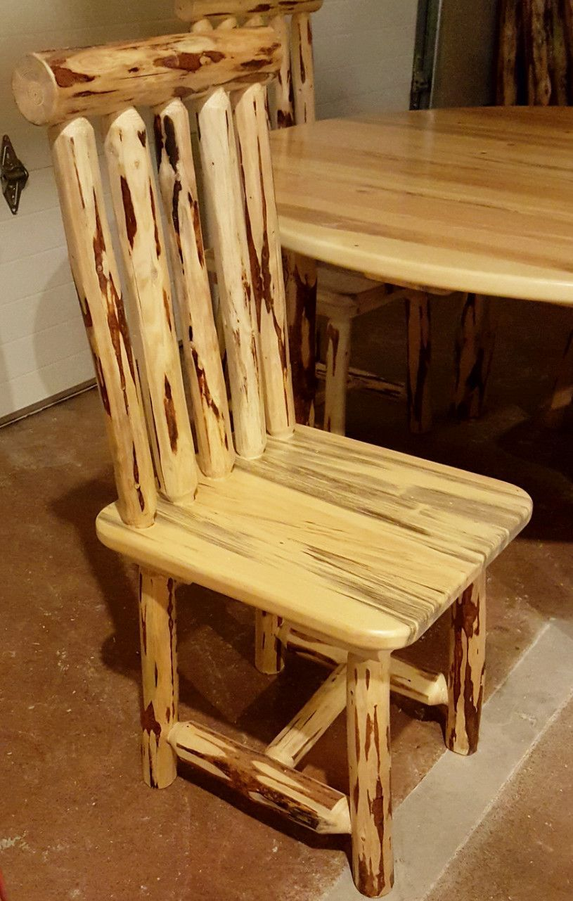 Montana Pioneer Rustic Log Dining Chair Rustic Wood Furniture Log Furniture Rustic Log Furniture