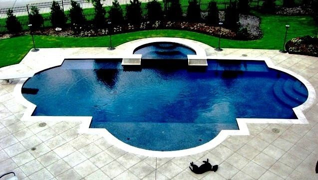 formal pool and spa