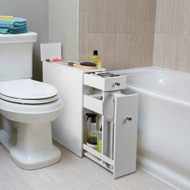 23 Unexpected Things You Didn T Know Your Bathroom Needed Bath Cabinets Bathroom Furniture Bathroom Storage