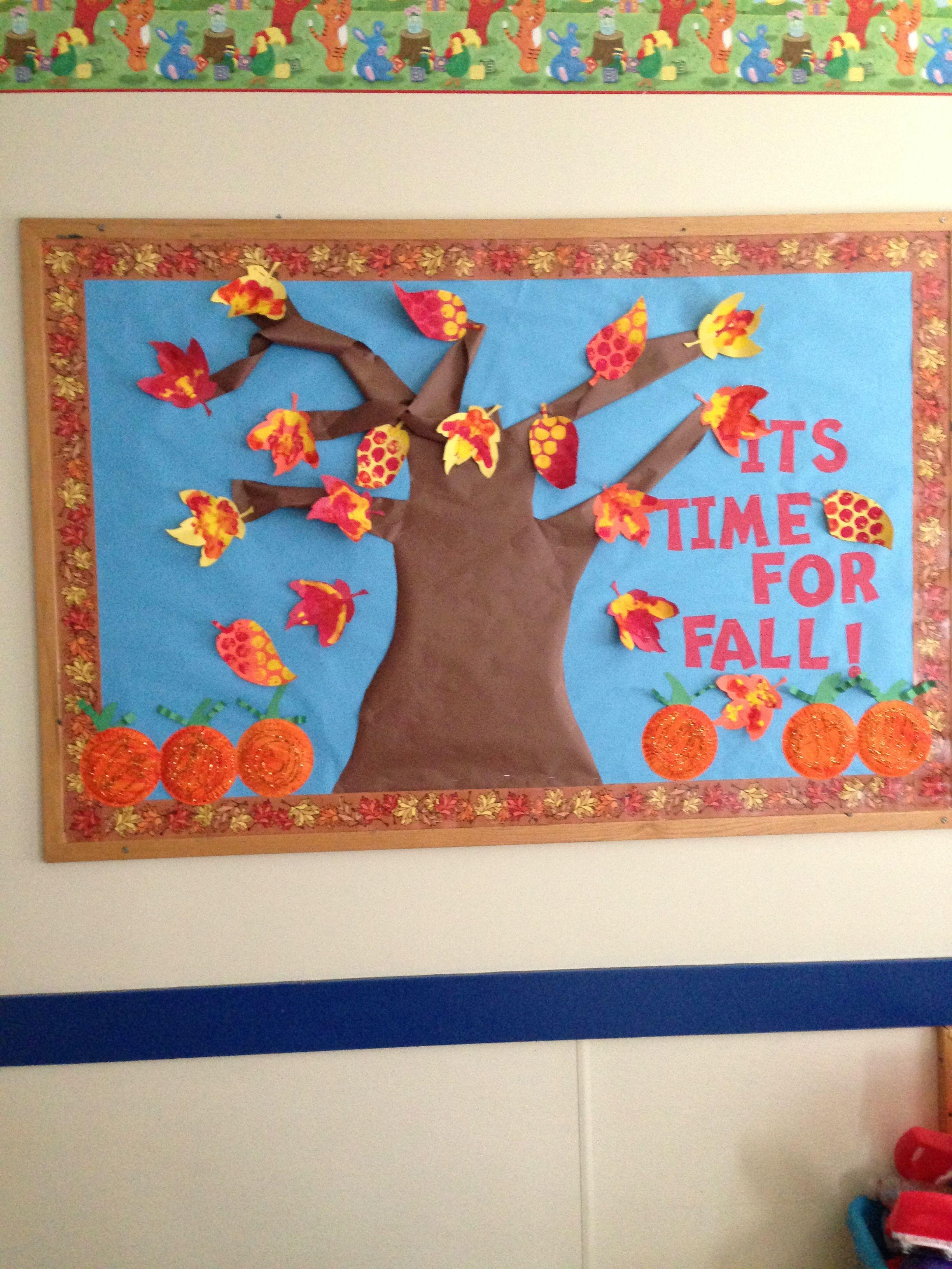 Fall Board Toddler Bulletin Boards Preschool Crafts