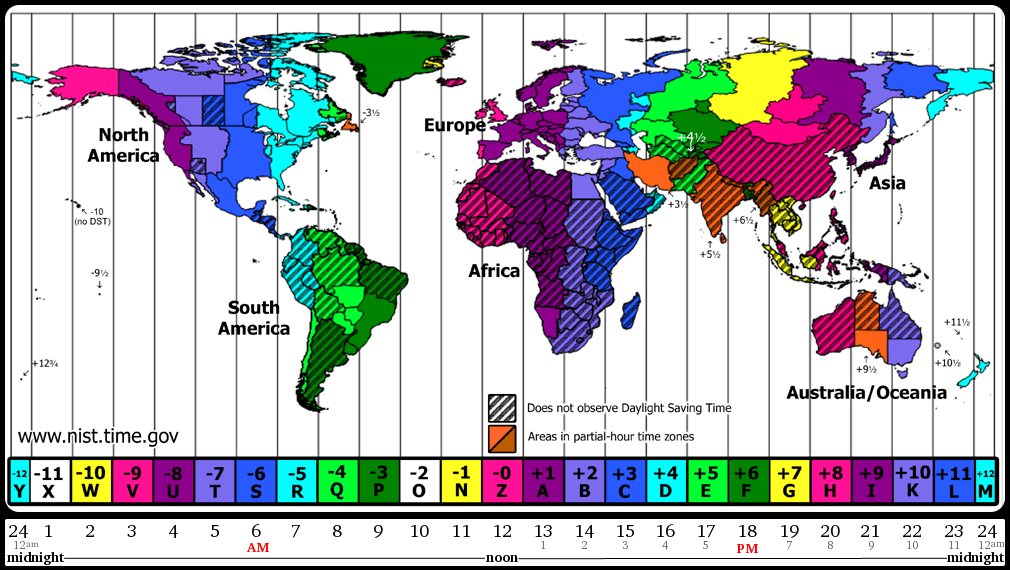 World Time Zone Map | Teaching | Time zone map, World time zones ...