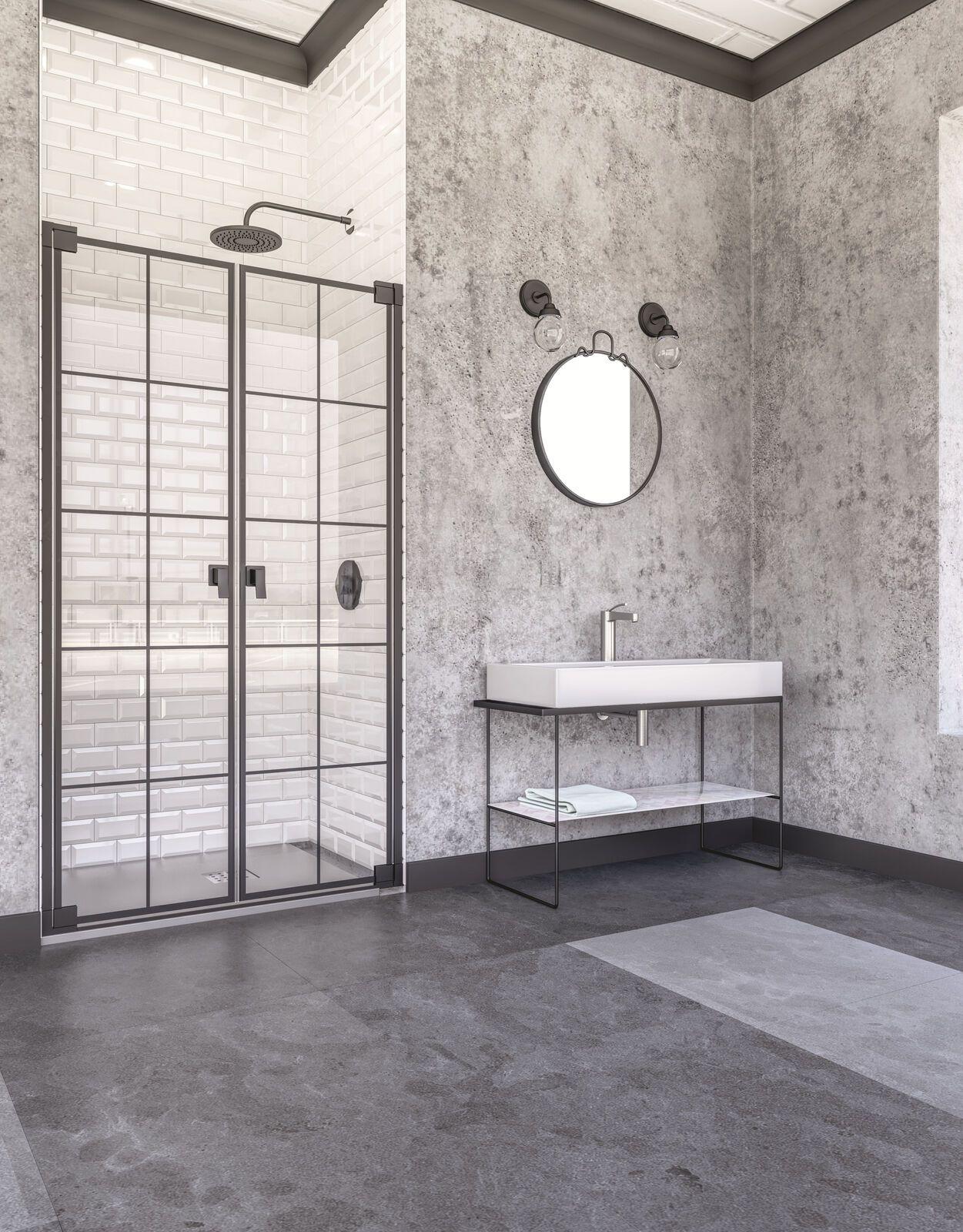 Mobel Im Vintage Stil Wohnaccessoires Im Shabby Chic Wohnwelten Duschabtrennung Runde Badezimmerspiegel Pendeltur