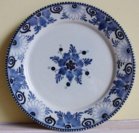 Original Dutch Delftware Delfts Blauw Gorgeous Dessert Etsy In 2020 Delft Crockery Plates
