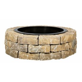 Allen Roth Britt Beige Flagstone Fire Pit Patio Block