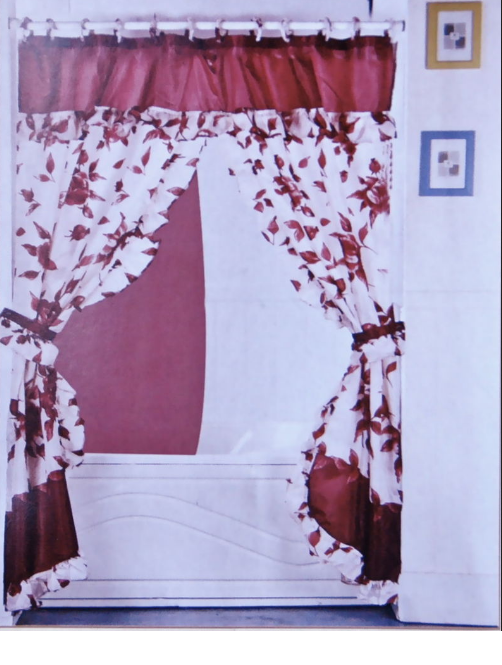 Double Swag Fabric Shower Curtain Best Ideas