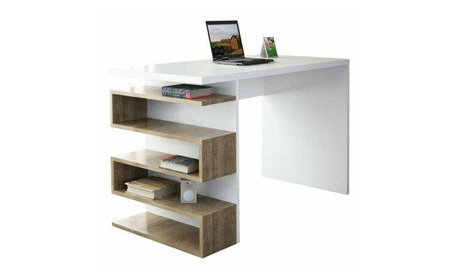 Bureau snake blanc et marron  cm bureau bureau