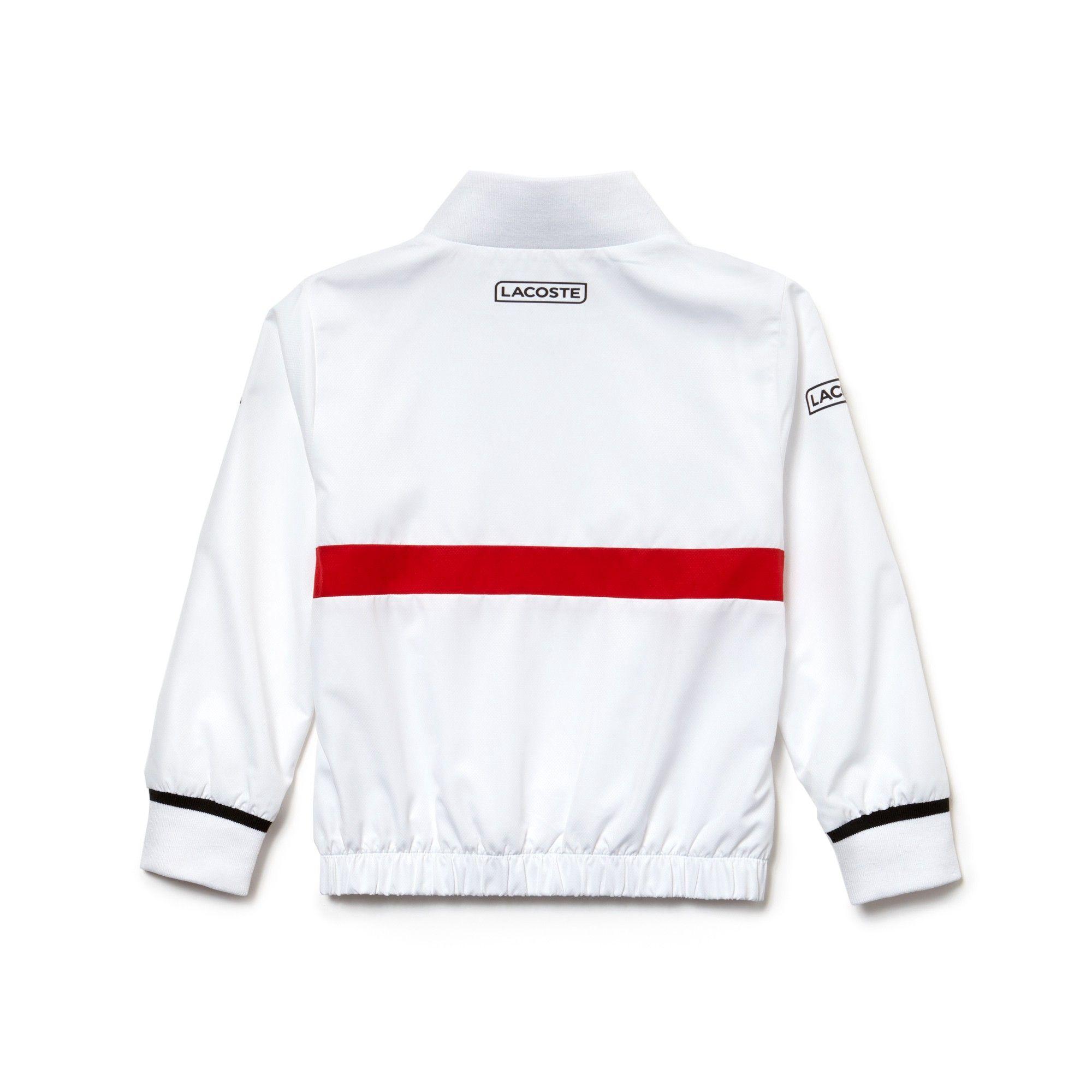 24c52f5e05ffb3 Lacoste Boys  Sport Tracksuit - Novak Djokovic Collection White Black-Red  10Yr