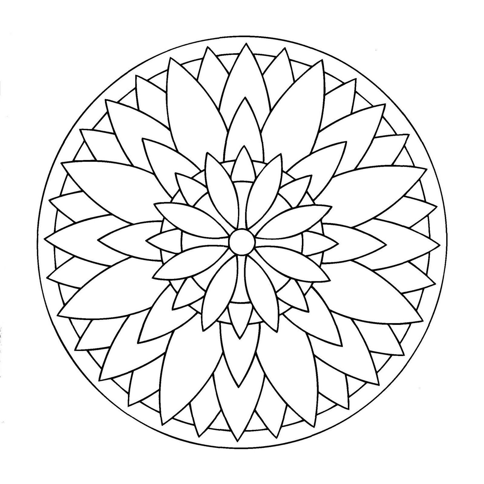 Mandalas Para Pintar: La gran flor, ejemplo de Mandala pintado ...