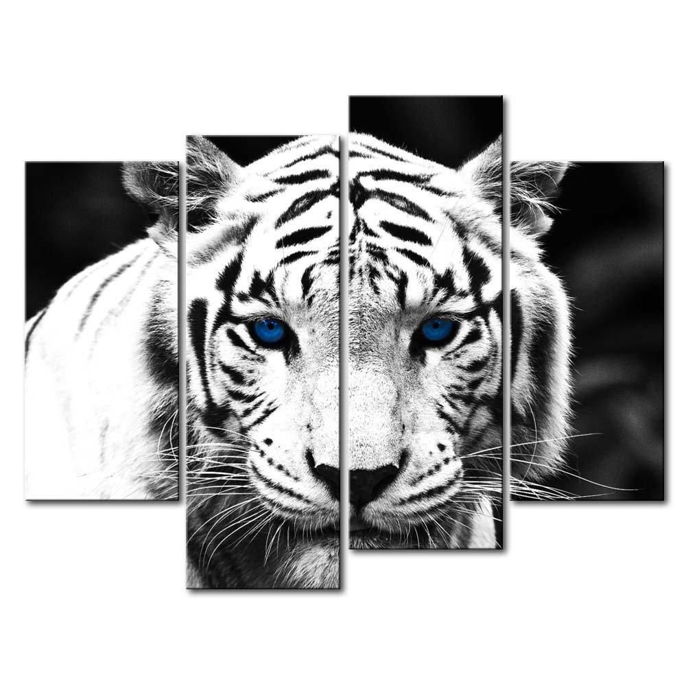 Blue eye tigers canvas tiger painting wall art painting