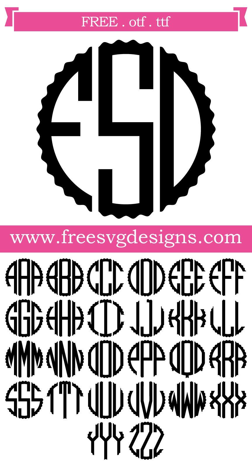31+ Free svg monogram fonts trends