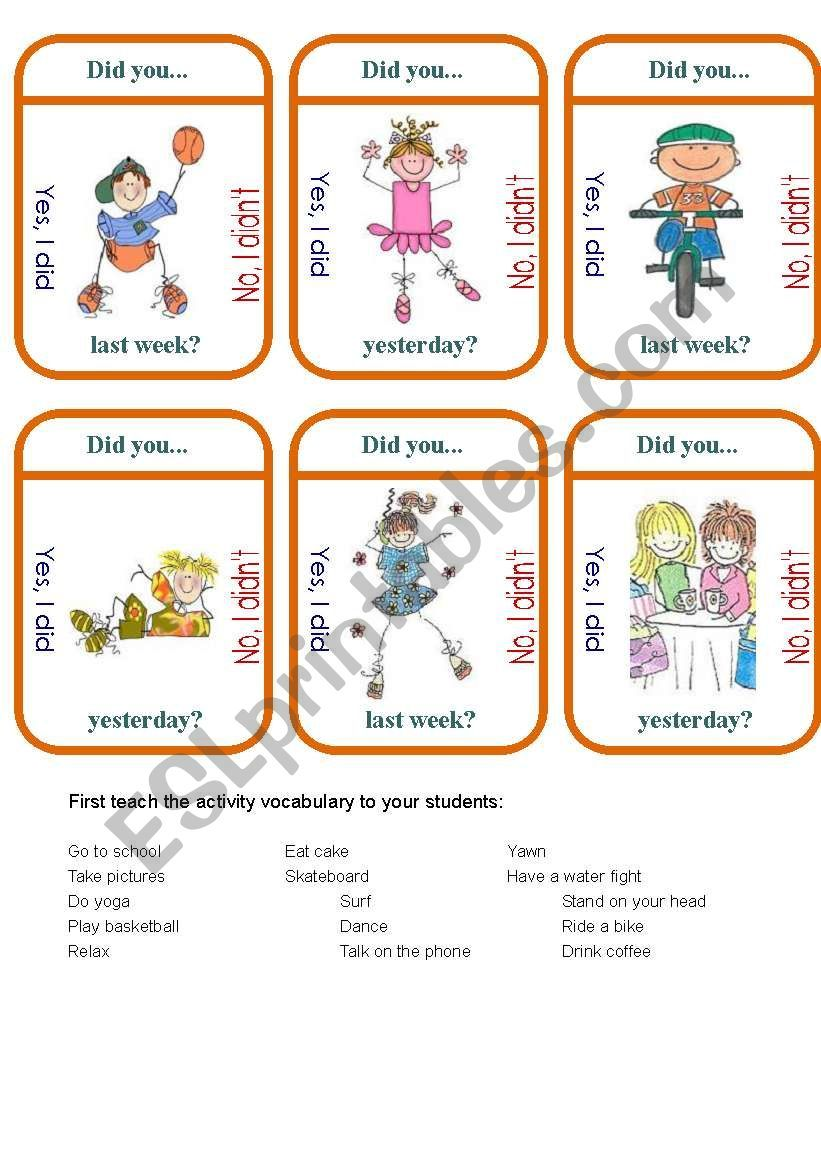 I Prepared A New Worksheet To Make Students Talk About The Topic Of Hobbies English Learning Spoken English Conversation Learning Speaking Activities English [ 1169 x 826 Pixel ]