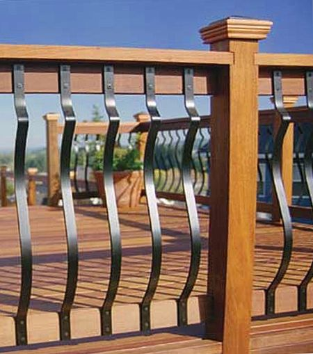 32 25 Baroque Deck Baluster Black Deck Balusters Aluminum Porch Railing Porch Railing