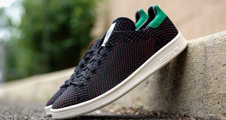 adidas stan smith primeknit black green red 1 | sport shoes